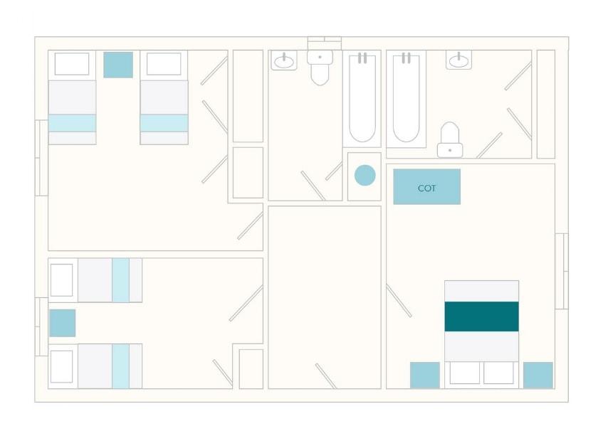 Coombery Loft Floor Plan - Ground Floor   Tuckenhay Mill - Coombery Loft, Bow Creek, between Dartmouth and Totnes
