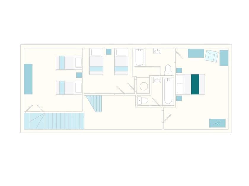 Edgecombe Barn Foor Plan - First Floor | Tuckenhay Mill - Edgecombe Barn, Bow Creek, between Dartmouth and Totnes