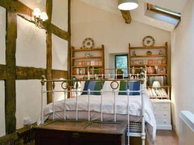 Double bedroom | Upper Valley Farmhouse, Penybontfawr near Oswestry