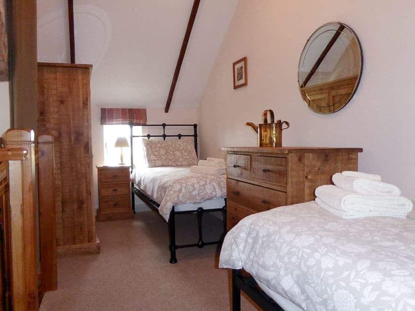 Twin Bedroom on Mezzanine   Amber Cottage - Basin Howe Farm, Sawdon near Scarborough