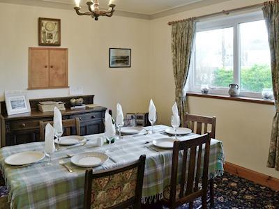 Convenient dining room | Rhonepark Steading, Crossmichael near Castle Douglas
