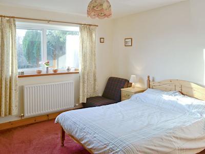 Comfortable master bedroom | Rhonepark Steading, Crossmichael near Castle Douglas