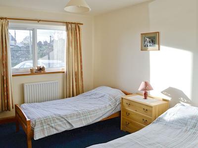 Light and airy twin bedroom | Rhonepark Steading, Crossmichael near Castle Douglas